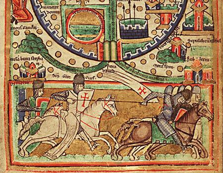 Средневековая карта Иерусалима