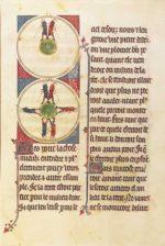 Круглая Земля, страница средневековой рукописи